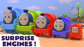 getlinkyoutube.com-Thomas & Friends Nesting Toy Trains with Surprise Eggs Minions Batman Masha and Pooh Fun ToyTrains4u