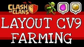 Clash of Clans | TOP 3 melhor Layout CV9 Farming #2 [FULL HD]