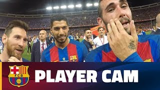 [PLAYER CAM] See the Copa del Rey celebrations from Aleix Vidal's point of view