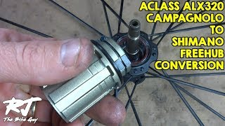getlinkyoutube.com-Replace Campagnolo To Shimano Freehub Body On AClass ALX320 Wheel