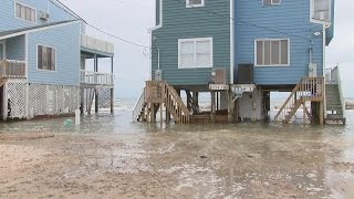 getlinkyoutube.com-North Topsail Beach reports no major structural damage, but shoreline significantly impacted