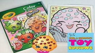 getlinkyoutube.com-Shopkins Crayola Coloring Pages | Let's Color Kooky Cookie | PSToyReviews