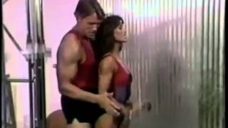 getlinkyoutube.com-Arnold Schwarzenegger ARM TRAINING! Hilarious 1980s Workout Video