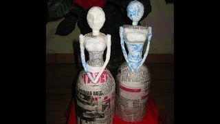 getlinkyoutube.com-DIY Заготовка для куклы. Папье-маше \ How to make doll \ Papier-mache