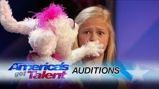 Darci Lynne: 12-Year-Old Singing Ventriloquist Gets Golden Buzzer - America's Got Talent 2017 width=