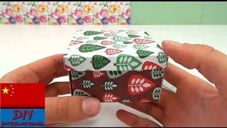 getlinkyoutube.com-在家  超级 折纸 DIY 简单 制作 礼品盒  收纳盒 盒子  礼盒 说明