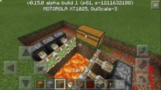 getlinkyoutube.com-Como fazer armadilha para mcpe 0.15.0 (MINECRAFT POCKET EDITION)