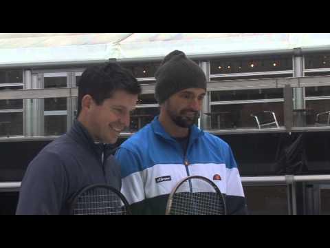 Statoil Masters Tennis Feature Henman Ivanisevic On Ice