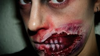 getlinkyoutube.com-Halloween Make up 5: Zombie FX (special effects)  | Silvia Quiros