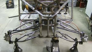 getlinkyoutube.com-LONG TRAVEL DUNE BUGGY BUILD SAND RAIL chassis with MOTORCYCLE ENGINE