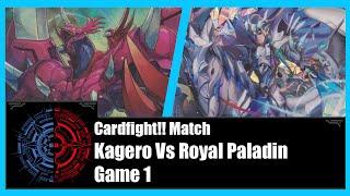 getlinkyoutube.com-Cardfight!! Vanguard - Kagero (Perdition) Vs Royal Paladin (Galehaut/Alfred) - Game 1