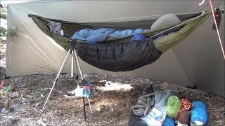 getlinkyoutube.com-Backpacking Hammock Camping Overnight