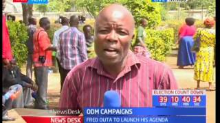 A section of ODM leaders carry out their campaigns in Kisumu town