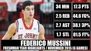 getlinkyoutube.com-Federico Mussini - NCAA Highlights: November