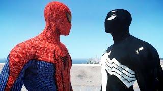 getlinkyoutube.com-The Amazing Spider-Man VS Black Spiderman