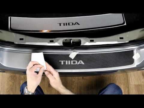 Наклейка на задний бампер для Nissan Tiida (Ниссан Тиида) Седан