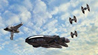 Star Wars Episode VII possible flight scene with green screen set