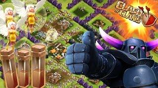 getlinkyoutube.com-1 PEKKA ALL HEALERS & EARTHQUAKE SPELLS! 3 STAR!?! | Clash Of Clans Attacks | 1 Troop vs Base!