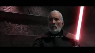 getlinkyoutube.com-AOTC: Count Dooku vs Obi Wan Kenobi, Anakin Skywalker & Yoda