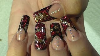 getlinkyoutube.com-Diseño Elegante - Natos Nails - Uñas Acrilicas - Acrylic Nails