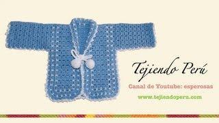 getlinkyoutube.com-Ropón o chaqueta para bebé en crochet (Parte 1)