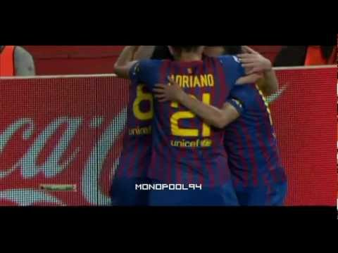 Leo Messi chip goal in Sevilla vs. BARCELONA / Xavi / Estadio Sanchez Pizjuan / 17/03/2012