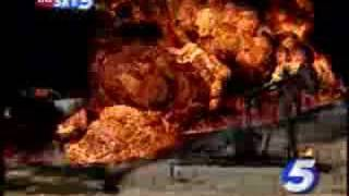 getlinkyoutube.com-Train Derails, Explodes In Okla. County