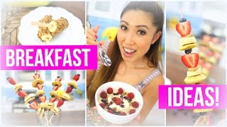 Quick & Healthy Breakfast ideas! Pancake Kabobs, Banana Pops & Berry Crunch Oatmeal!