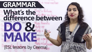 getlinkyoutube.com-'Do' vs 'Make' - Learn the difference between these verbs - English Grammar Lessons