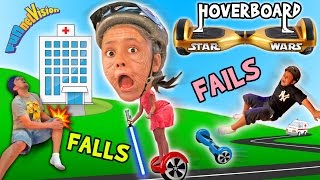 getlinkyoutube.com-Little Granny Lightsaber! HOVERBOARD Family Fails & Falls! (Star Wars FUNnel Vision Vlog)