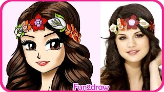 getlinkyoutube.com-How to Draw Selena Gomez - Manga, Anime, Drawing tutorial CUTE