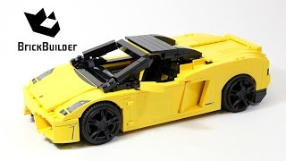 Lego Racers 8169 Lamborghini Gallardo - Lego Speed Build
