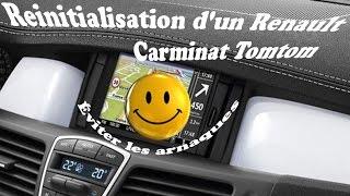Réinitialisation d'un Renault Carminat Tomtom (arnaque a éviter)