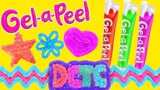 getlinkyoutube.com-Gel-a-Peel NEW Sparkle GEL PENS Craft Jewelry - Bracelets, Earrings, Keychains (DCTC Toy Reviews)