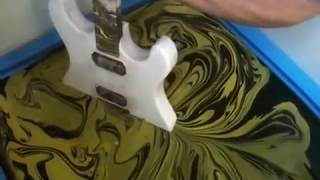 getlinkyoutube.com-SWIRLING(Yellow & Black Custom Guitar)
