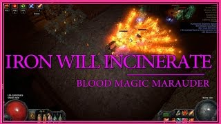getlinkyoutube.com-Path of Exile - Blood Magic Iron Will Incinerate Marauder Build Guide