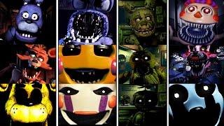 getlinkyoutube.com-Todos los JUMPSCARES - FNAF 1-4 & Five Nights at Freddy's 4 Halloween Edition - Fnaf All Jumpscares