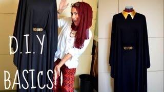 getlinkyoutube.com-DIY HOW TO MAKE YOUR OWN ABBAYA/DRESS!