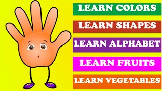 Finger Learning Collection - Learn Colors | Learn Shapes | Learn Alphabets