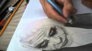 getlinkyoutube.com-Drawing Joker - Desenhando o Coringa (Speed Drawing)