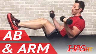 15 Min Shredding Ab and Arm Workout - Abs and Arms Workout - Ab Exercises & Arm Exercises