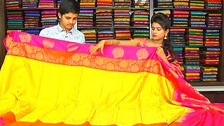 Latest Collection of Double Border Kanchi Pattu Sarees and Fancy Sarees | Hello Ladies | Vanitha TV