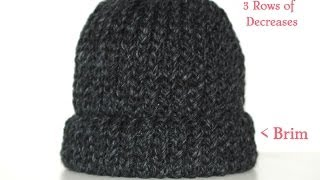 getlinkyoutube.com-How To Loom Knit A Chunky Beanie Hat  Pt. 1