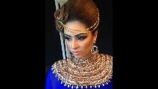 getlinkyoutube.com-Asian bridal hair and makeup tutorial arabic inspired