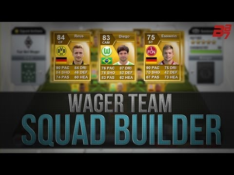 FIFA 13 Ultimate Team Squad Builder | THE BEST WAGER TEAM (My Ultimate Team)