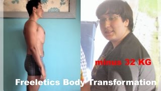 getlinkyoutube.com-Freeletics Transformation München, Minus 33KG Body transformation