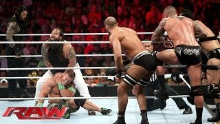 getlinkyoutube.com-John Cena competes in a 4-on-3 Handicap Match: Raw, June 23, 2014