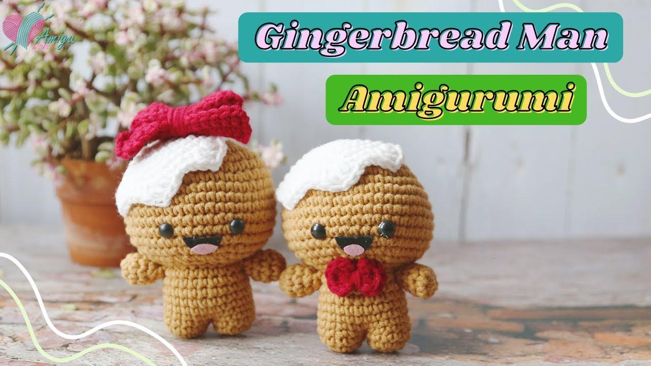 Amigurumi Gingerbread Man free crochet pattern
