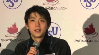getlinkyoutube.com-2015 Skate Canada International: Yuzuru Hanyu (Silver-Men's)