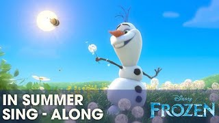 "getlinkyoutube.com-Frozen ""In Summer"" Song - Sing-a-long with Olaf - Official 